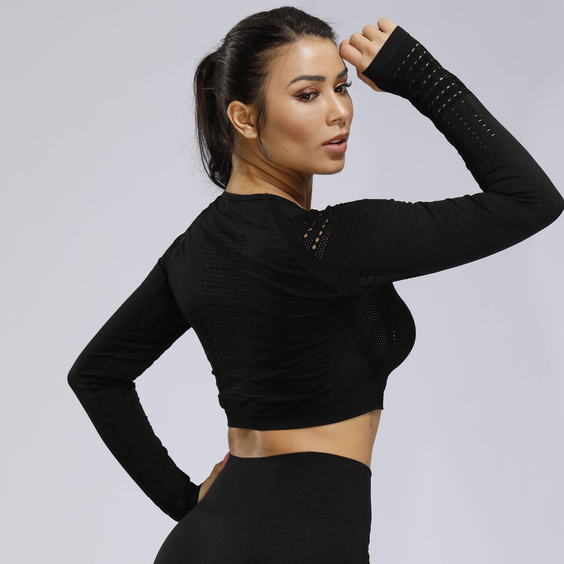 Women Long Sleeve Crop Top